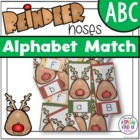 Reindeer Noses Alphabet Match