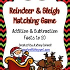 Reindeer & Sleigh Addition & Subtraction Game