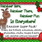 Reindeer Super Pack! Literacy, Math, Centers, Printables,