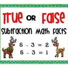 Reindeer True or False Subtraction Facts