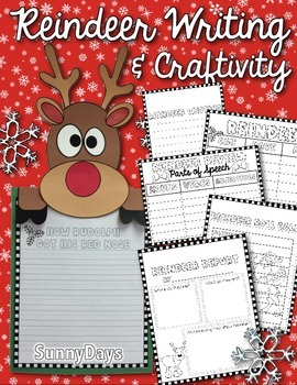 Reindeer Writing and Craft