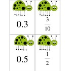 Relating Fractions &amp; Decimals (Ladybugs)