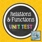 Relations & Functions - Unit Test