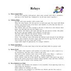 Relays for Physical Education