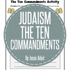 Religion: Judaism The Ten Commandments Activity and Quiz