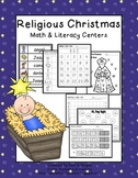 Religious Christmas Math & Literacy Centers & Printables Packet