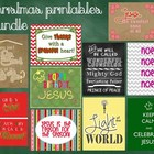 Religious Christmas Printable Posters FREE Demo Bundle - G