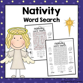 Religious Christmas Word Search {FREE}