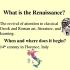 Renaissance Humanism - PowerPoint Introduction