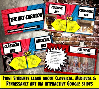 Renaissance, Medieval, Classical Art Comparison Worksheet