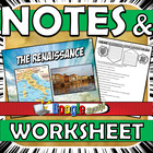 Renaissance Notes Graphic Organizer Standard 7.8.1 & 7.8.2