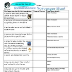 Renaissance Scavenger Hunt and Answer Key