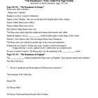 Renaissance Study Guide (for Ad. in Eng Lit Text) and KEY