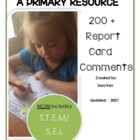 Report Card Comments- Primary (continually updated)