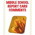 Report Card Comments for Middle School Math