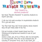 Report Card Random Rewards