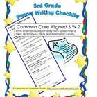 Report Writing Checklist - 3rd Grade Common Core