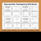 Reproducible Skill Books - Thanksgiving