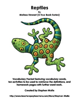 Reptiles Vocabulary Packet
