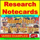 Research Paper : Note Card System PowerPoint
