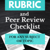 Research Paper Rubric with Peer-Review Checklist