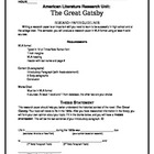 Research Project Unit: The Great Gatsby & America in the 1920s