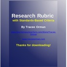 Research Report Rubric with Grading Guidelines Standards -