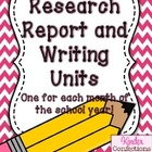 Research Report and Writing Unit BUNDLE (9 Units)