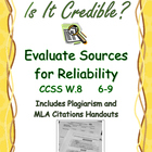 Research Source Credibility Evaluation Chart and Glossary
