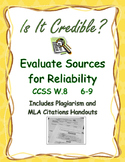 Credibility: Research Source Evaluation Chart, Glossary an