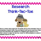 Research Think-Tac-Toe Choice Board