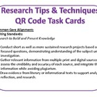 Research Tips and Techniques QR Code Task cards Common Core