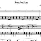 Resolution - sheet music for beginner/intermediate piano students