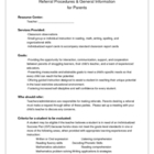 Resource / Special Ed Referral Procedures for Parents