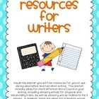 Resources for Writers Packet for Students