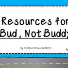 Resources to Use with Bud, Not Buddy