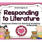 Responding to Literature: Response Sheets for Reading Workshop