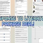 Response to Literature - 6 worksheet PACKAGE DEAL!