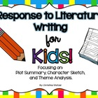 Response to Literature Writing for Kids! {CCSS aligned}
