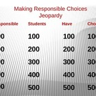 Responsibility Jeopardy