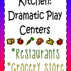 Restaurant &amp; Grocery Store Dramatic Play Center