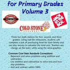 Restaurant Math for Primary Grades Volume 3