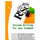 Resume Writing for Any Student