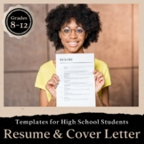 Resume and Cover Letter Templates with Rubrics