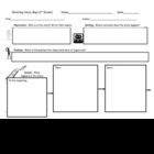 Retelling Story Map for 3rd Grade