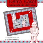 Retro Robot Customizable File Folder Game