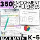Reusable and Customizable Math Extension Activity Bundle {