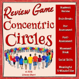 Review Game: Concentric Circles for Middle School (Grades 5-9)