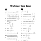 Review Game [Math]: Worksheet Card Game