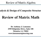 Review of Matrix Algebra PowerPoint